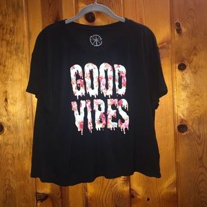 Recycled Karma Good Vibes Crop